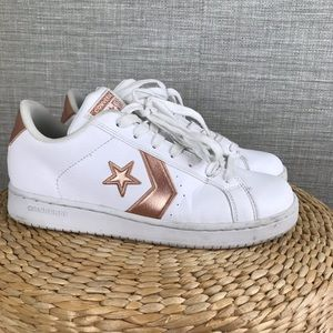 Converse All Star White/Pink Sneakers M6 WM 7.5